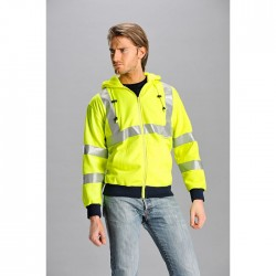 15665 MD -  Felpa FLASH full zip con cappuccio 280gr