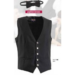 211275 GT - Gilet da cameriere linea one way con papillon incluso