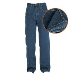 13261 MC PANTDF Pantalone 5 tasche denim Stone Washed foderato in flanella.