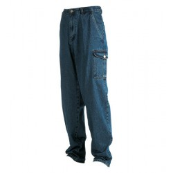 13262 MC pantdtasc   Pantalone denim Stone Washed con tasconi laterali.