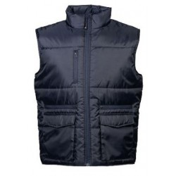 27667 JR - XS-4XL NAVY Gilet in nylon lucido impermeabile 180gr