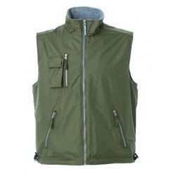 27961 JR - Gilet in polyester pongee army green