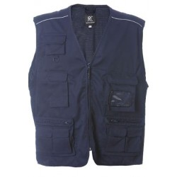 27968 JR - Gilet multitasche cotone-polyester 4XL NAVY