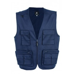 27969 JR - Gilet multitasche cotone-polyester 4XL NAVY