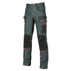 28424 UP- pantalone in tessuto jeans stretch 330gr