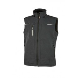 28439 UP- gilet in tessuto softshell con tasca portacellulare 320gr