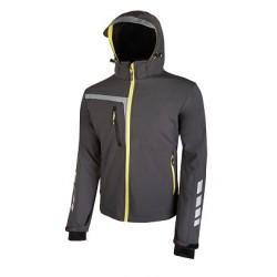 28443 UP- giacca in softshell con inserti reflex 320 gr