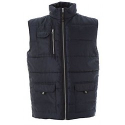 17665 JR - S NAVY Gilet in nylon lucido impermeabile