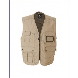 20309 JR - Gilet Professional multitasche 65% poliestere 35% cotone canvas